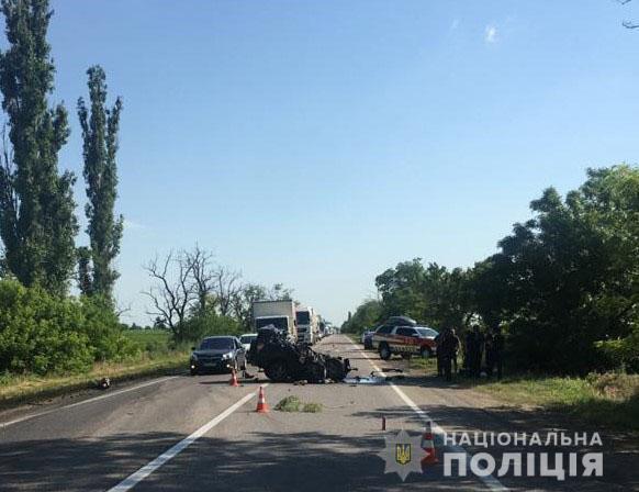 Авария произошла на трассе.