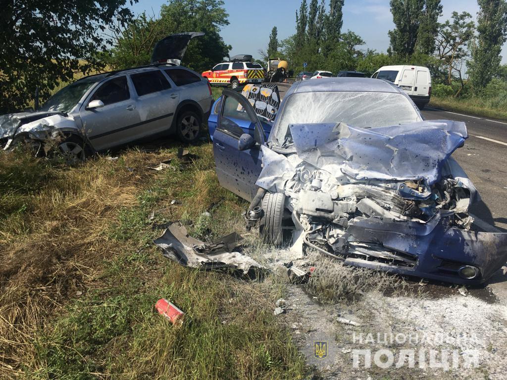 Столкнулись четыре машины.
