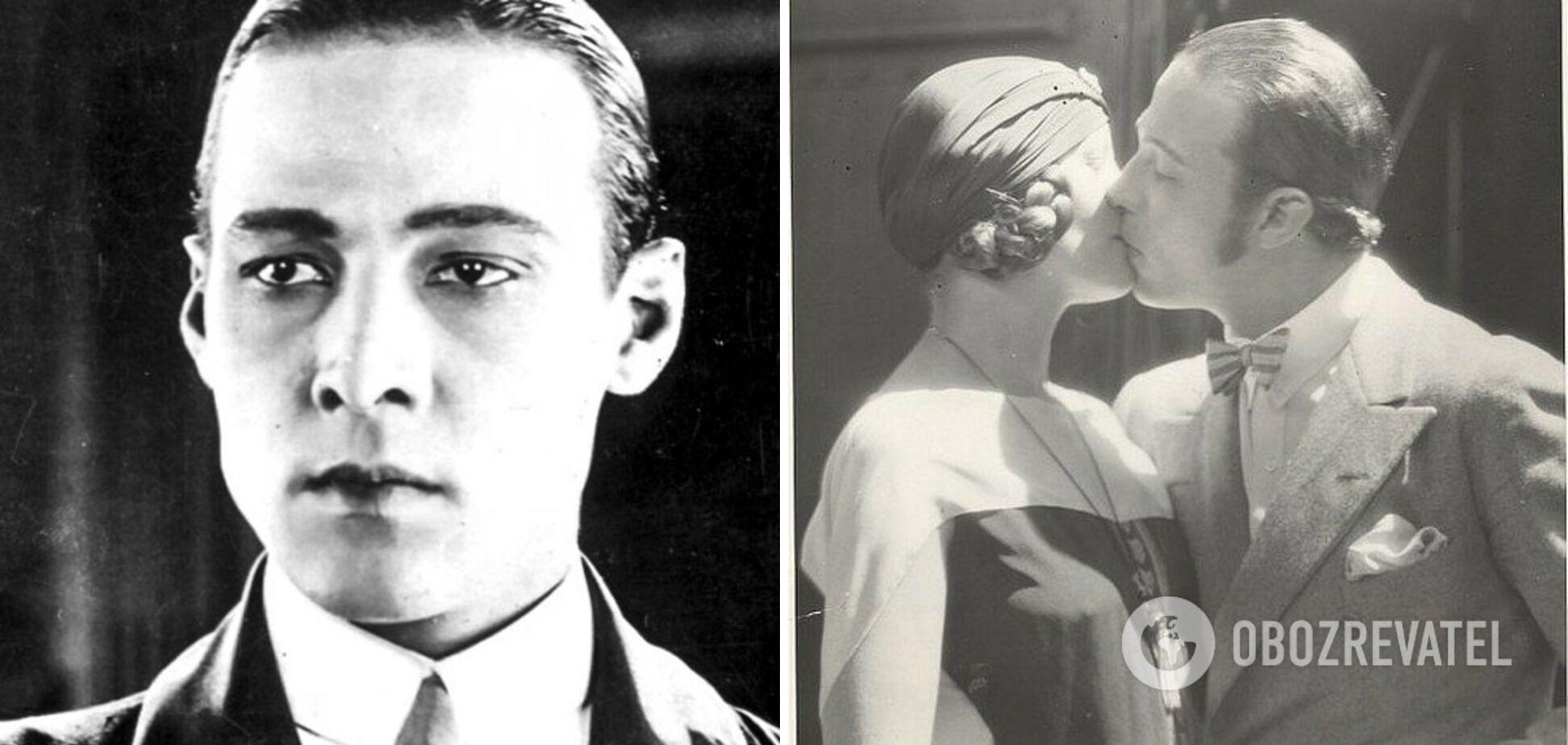 Рудольф Валентино и Наташа Рамбова поженились ради карьеры.