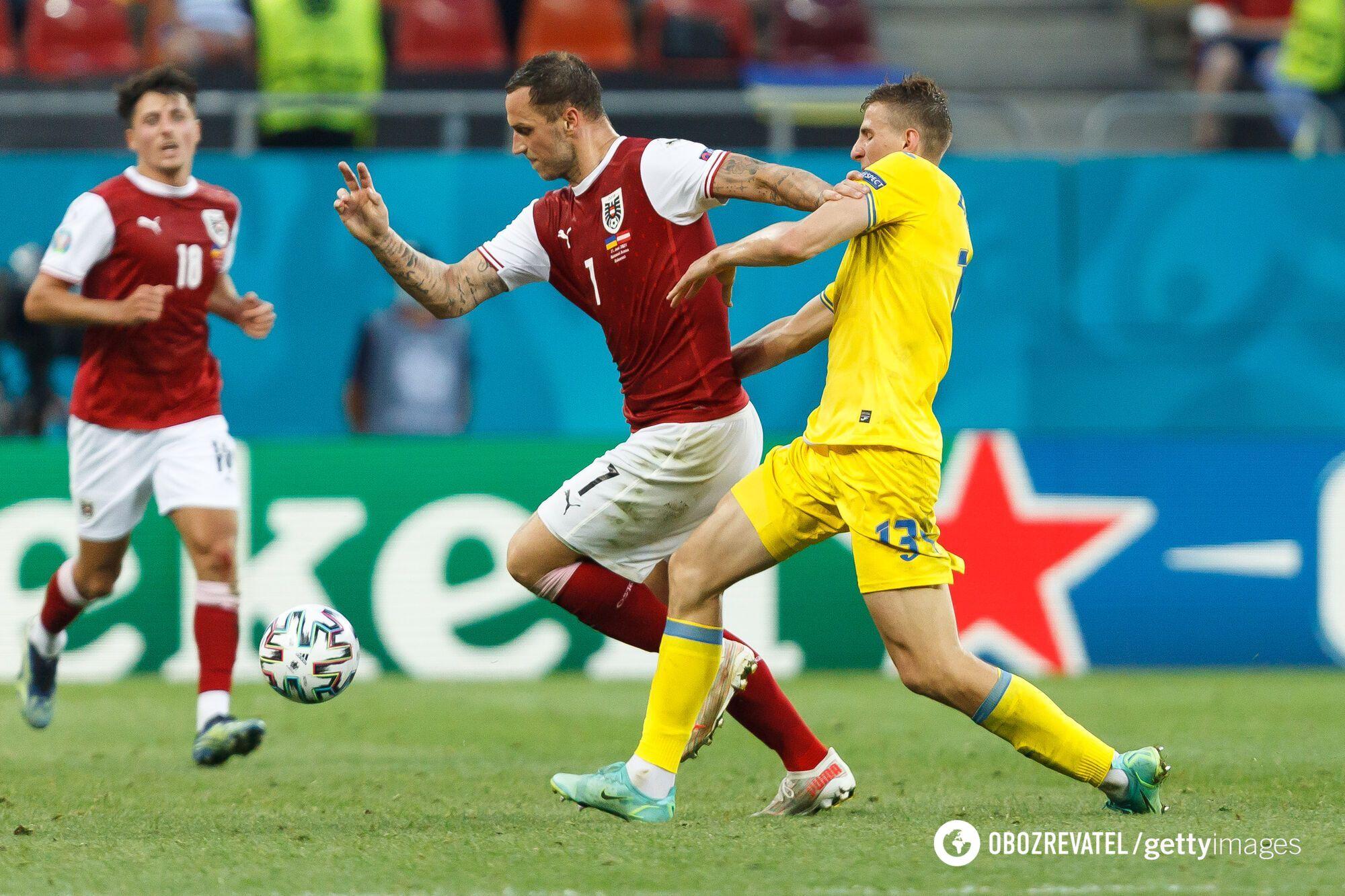 Марко Арнаутович в матче против сборной Украины