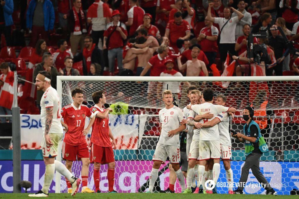 Дания вышла в плей-офф благодаря разгромной победе над Россией