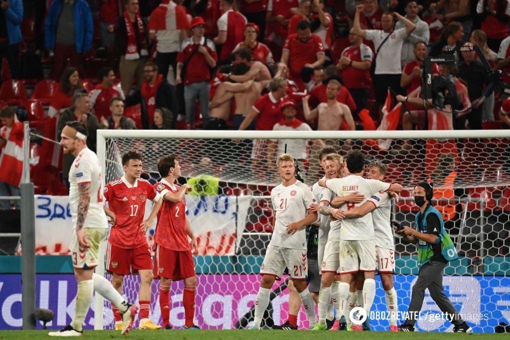 Данія вийшла в плей-офф завдяки розгромної перемоги над Росією