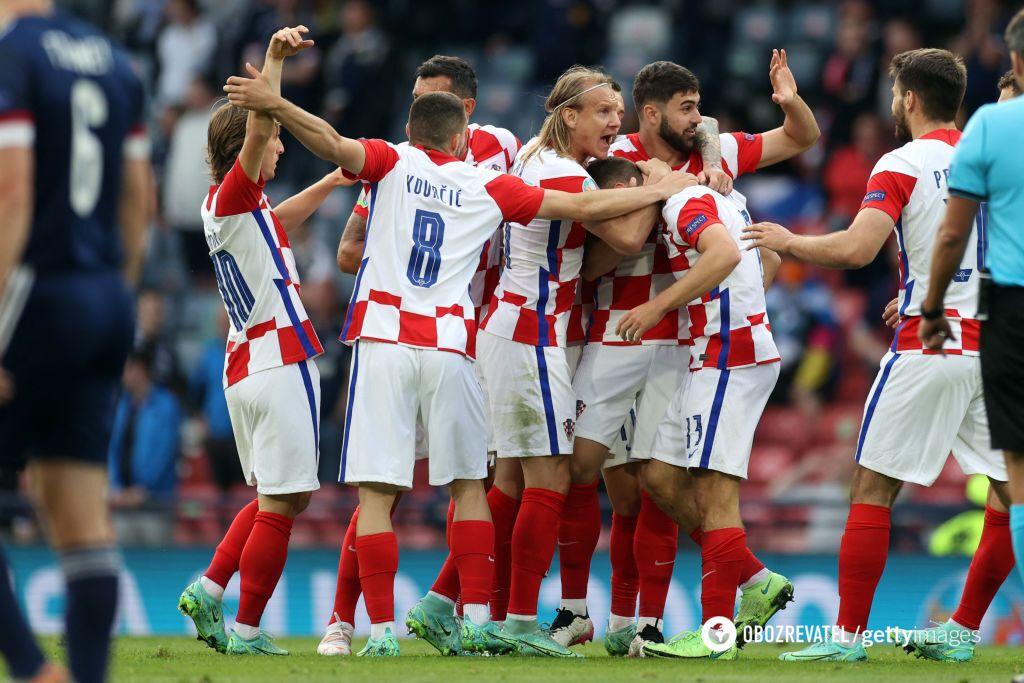Хорватия вышла в 1/8 финала благодаря победе над Шотландией