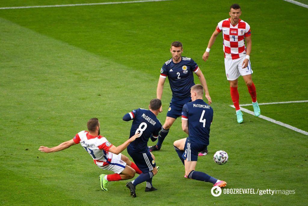 Влашич відкрив рахунок в матчі Хорватія - Шотландія.