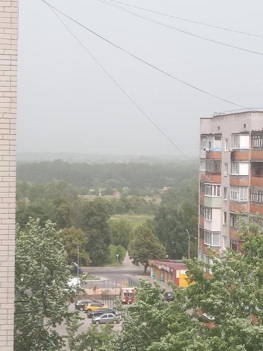 Пылевая буря в Чернигове.