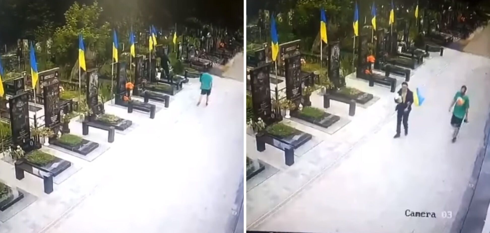 Двоє невідомих викрали прапор з Алеї Героїв