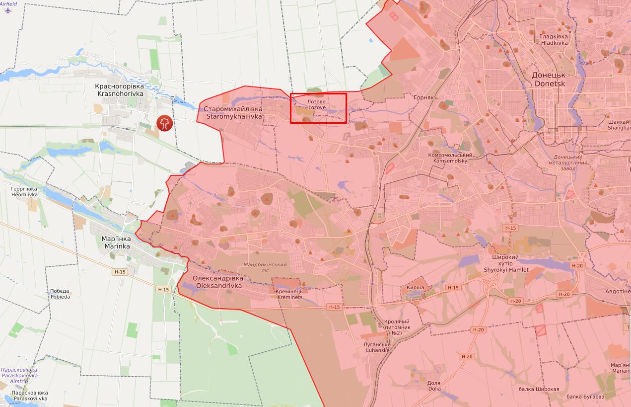 Підрив стався в районі селища Лозове.