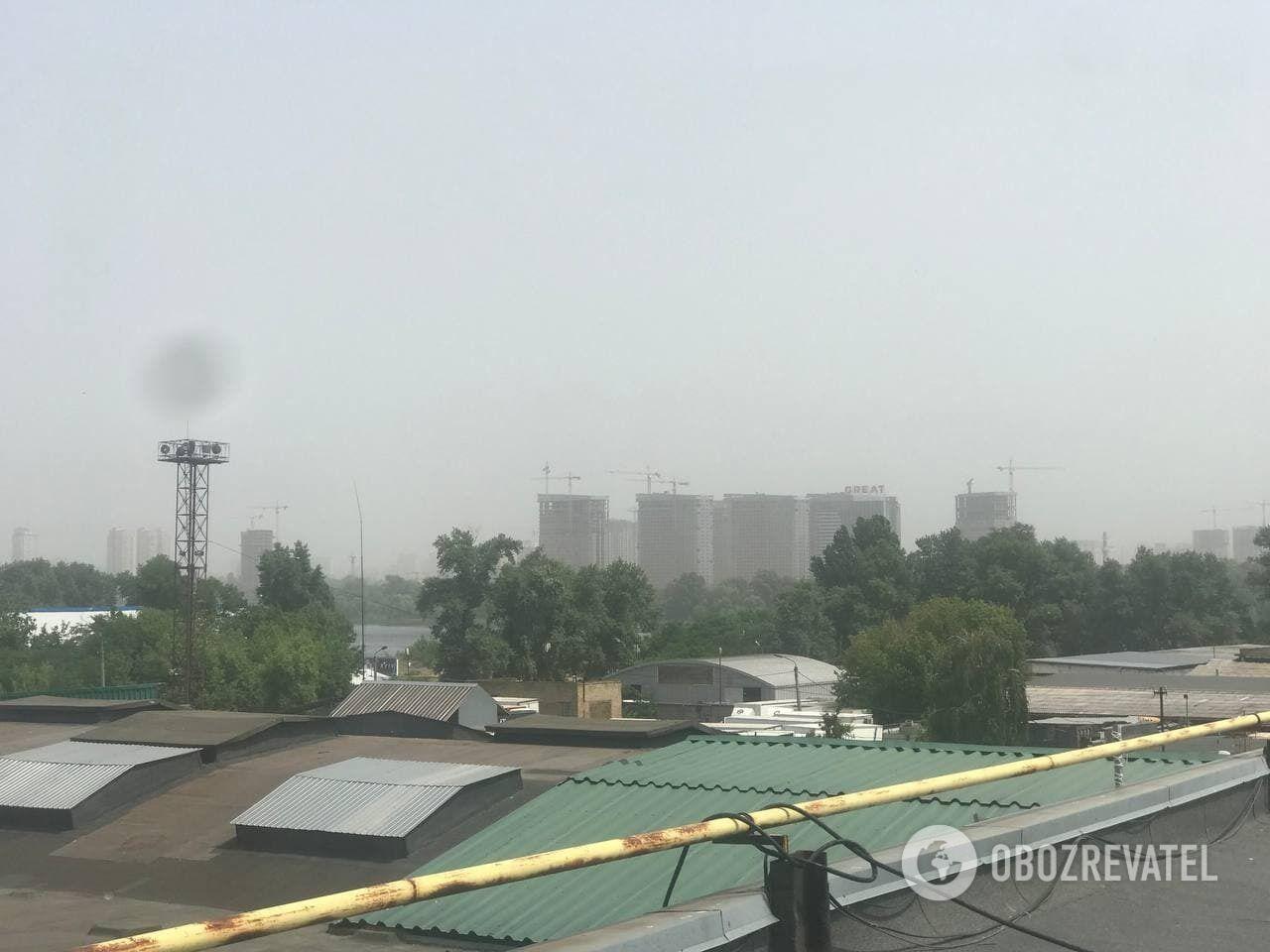 Київ накрив смог.