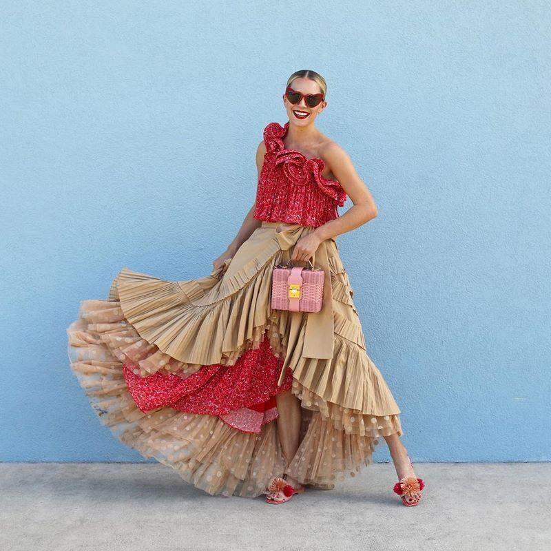 Модная пышная юбка