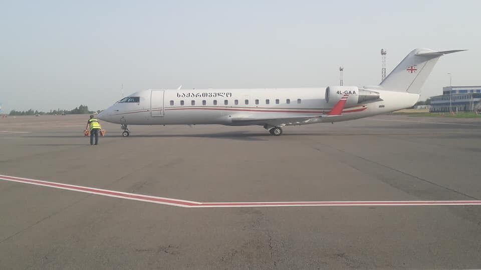 Зурабишвили  приземлилась в Киеве.