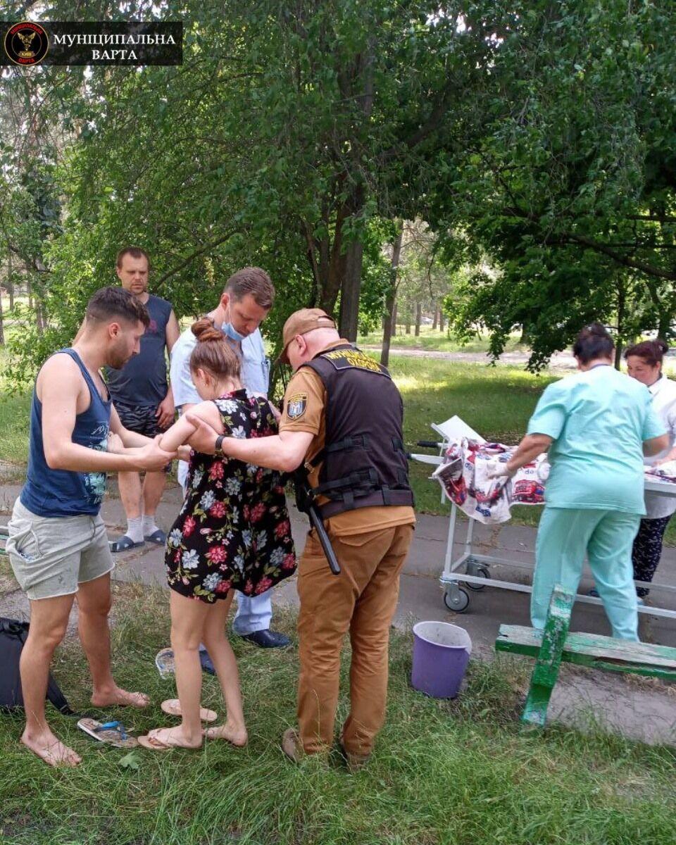 У Києві вагітна знепритомніла через спеку.
