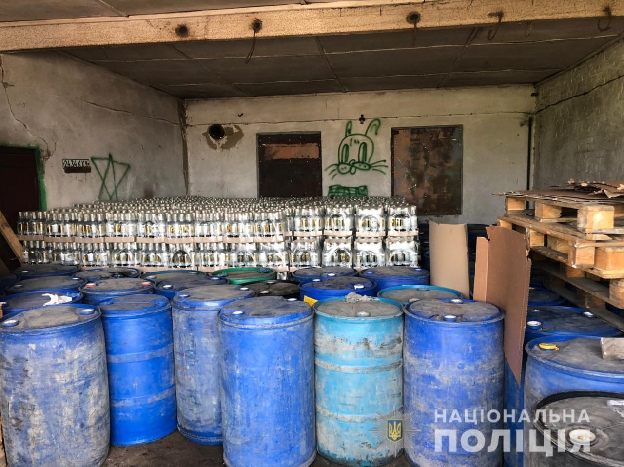 Правоохоронці вилучили 20 тонн алкоголю на 10 млн грн.