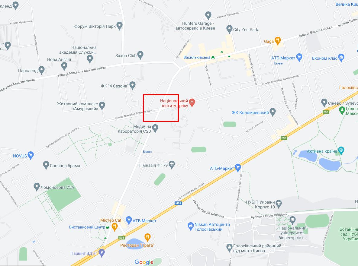 Аварія сталася на перехресті вулиць Васильківської та Ломоносова.