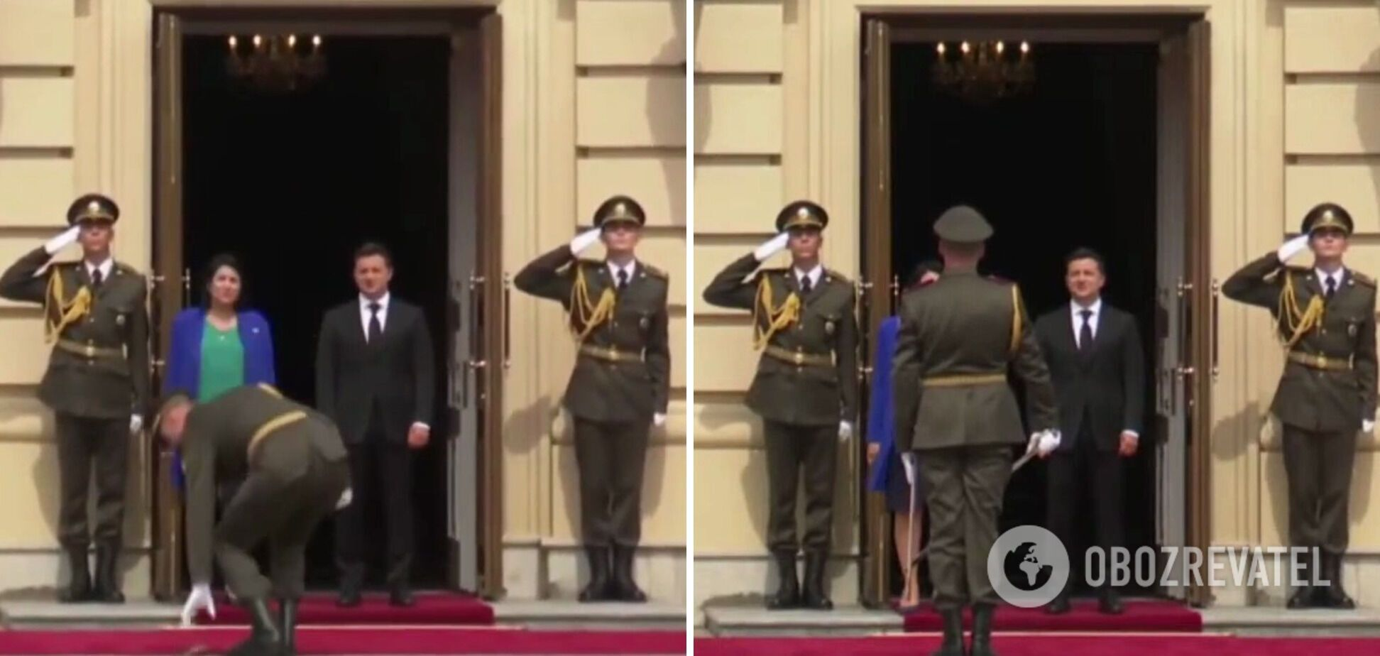 Курьез во время встречи Зурабишвили и Зеленского