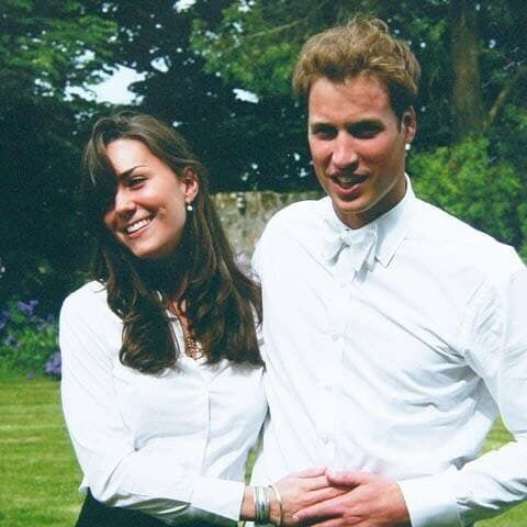 Кейт Миддлтон и принц Уильям в юности