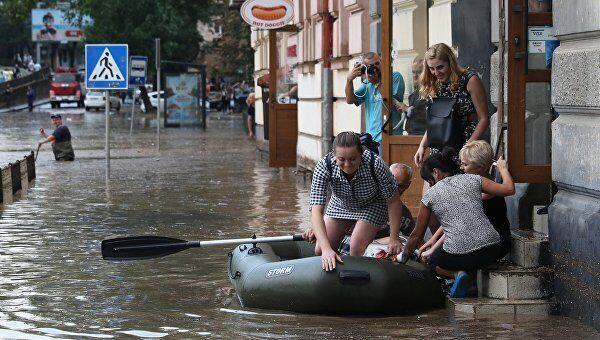 Потоп во Львове.