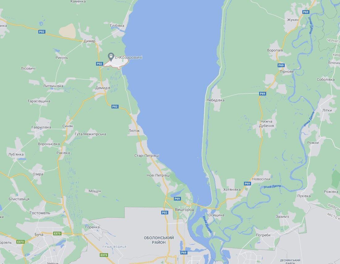 Тіло дівчинки знайшли біля села Козаровичі.