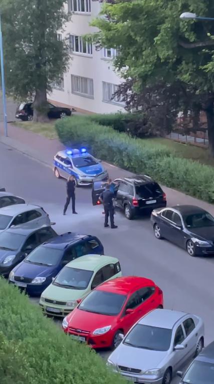 Українець після застосування газового балончика вийшов з автомобіля