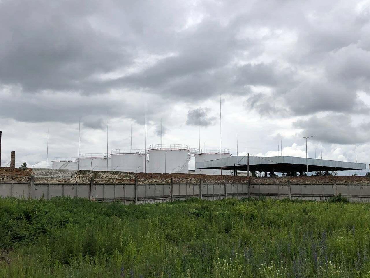 Нефтебаза в Коростене.