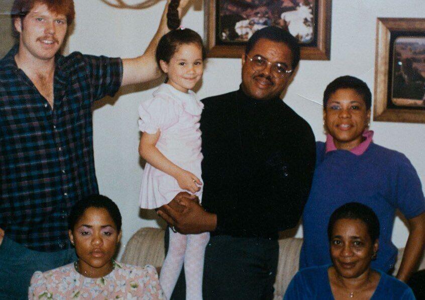 Меган Маркл со своей семьей