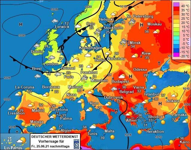 Карта атмосферного фронту