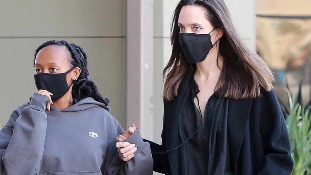 Анджелина Джоли с дочерью Захарой