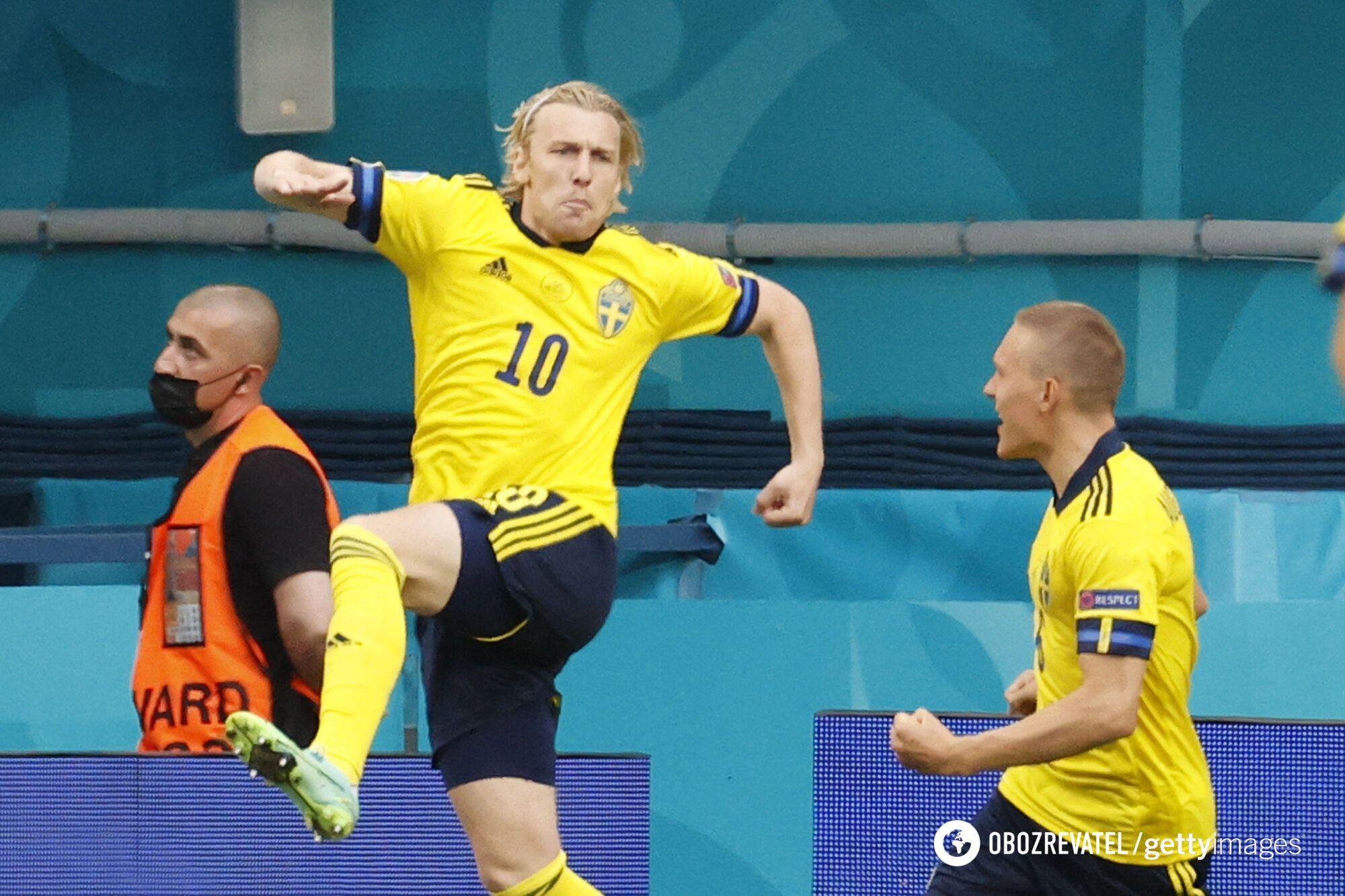 Эмиль Форсберг дважды забил Польше.