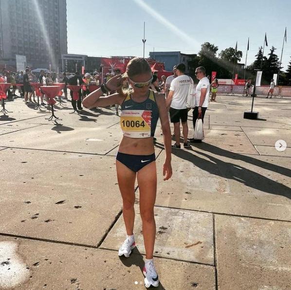 Последнее фото Кати на марафоне в Сумах