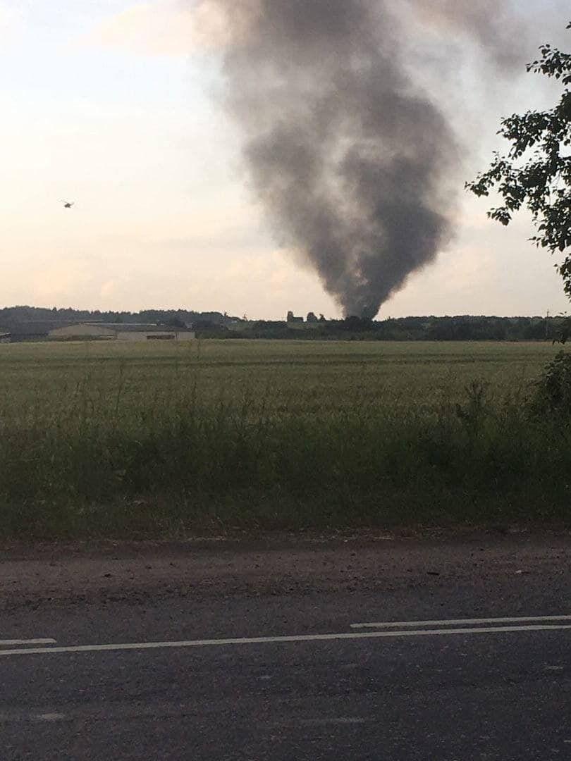 В Ленинградской области упал вертолет Ми-8.