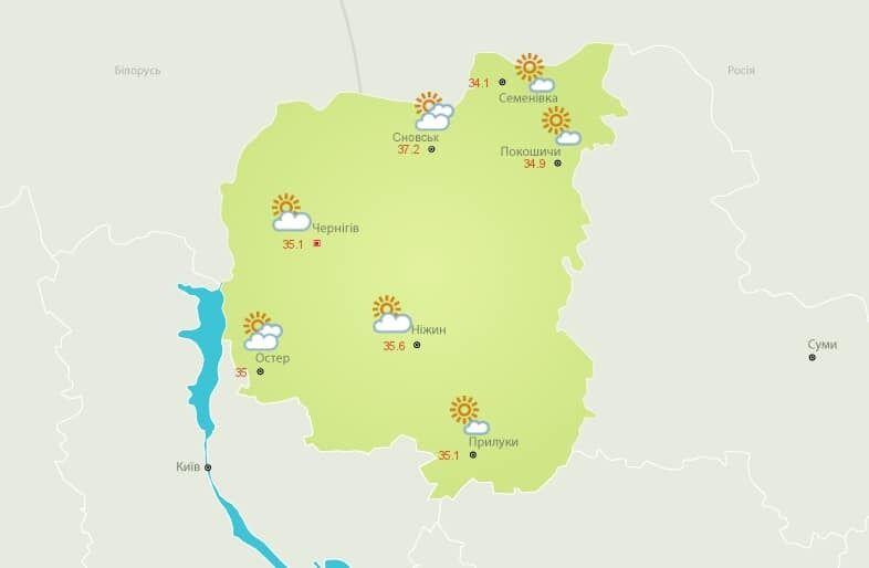 Сильная жара на севере Украины.