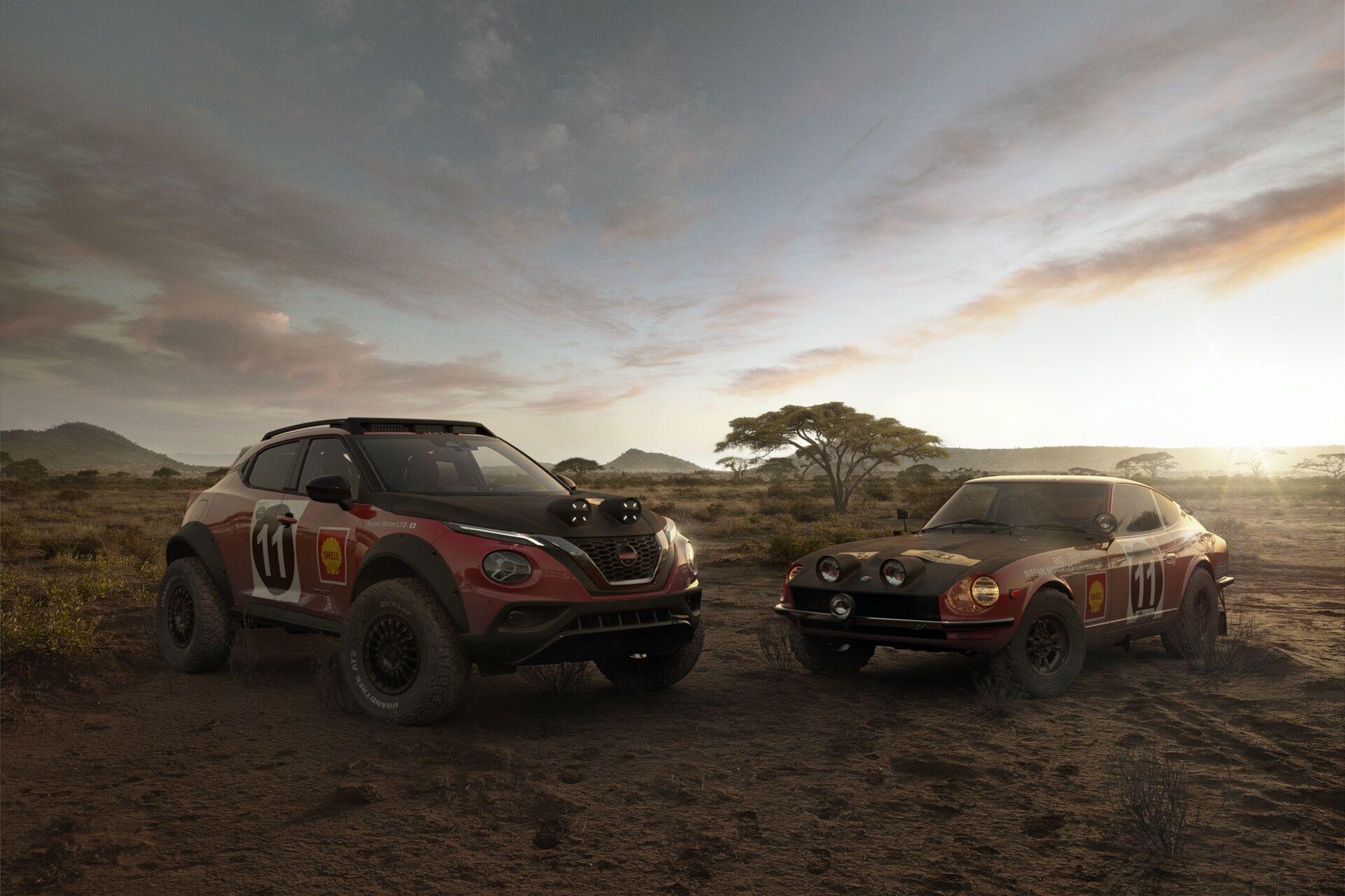 "Nissan Juke Rally Tribute Concept та його ""предок"" Nissan 240Z"