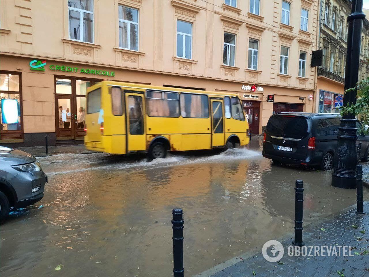 Затопленные улицы Львова.