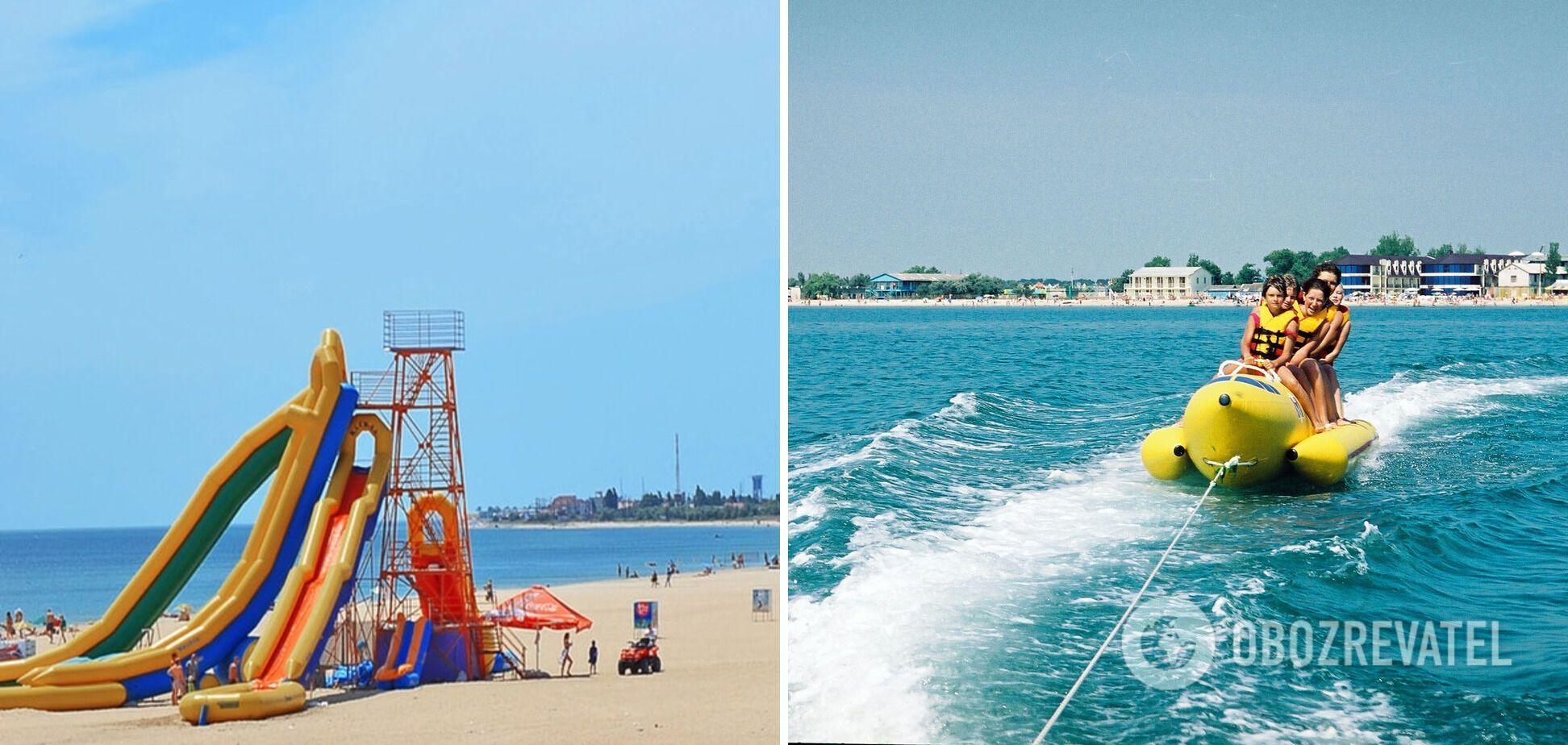 На общественных пляжах есть водные развлечения для туристов.