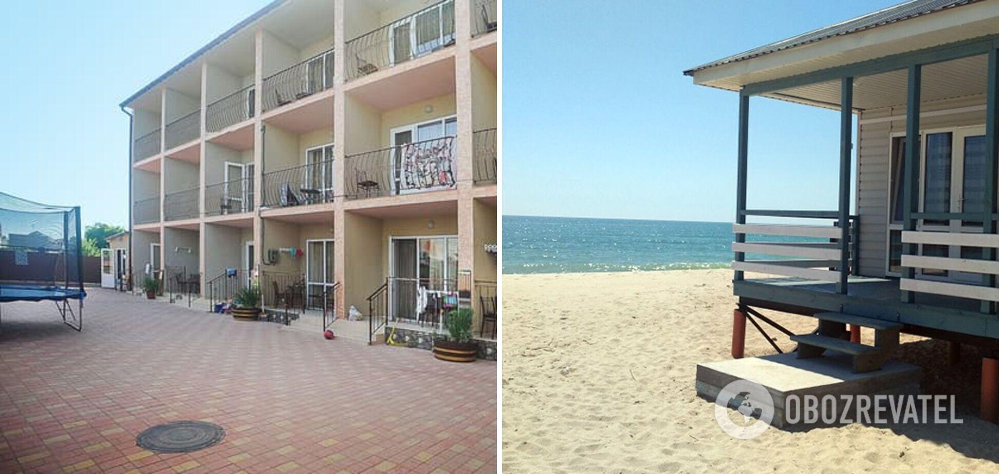 В Затоке можно снять гостевой дом или номер в отеле.