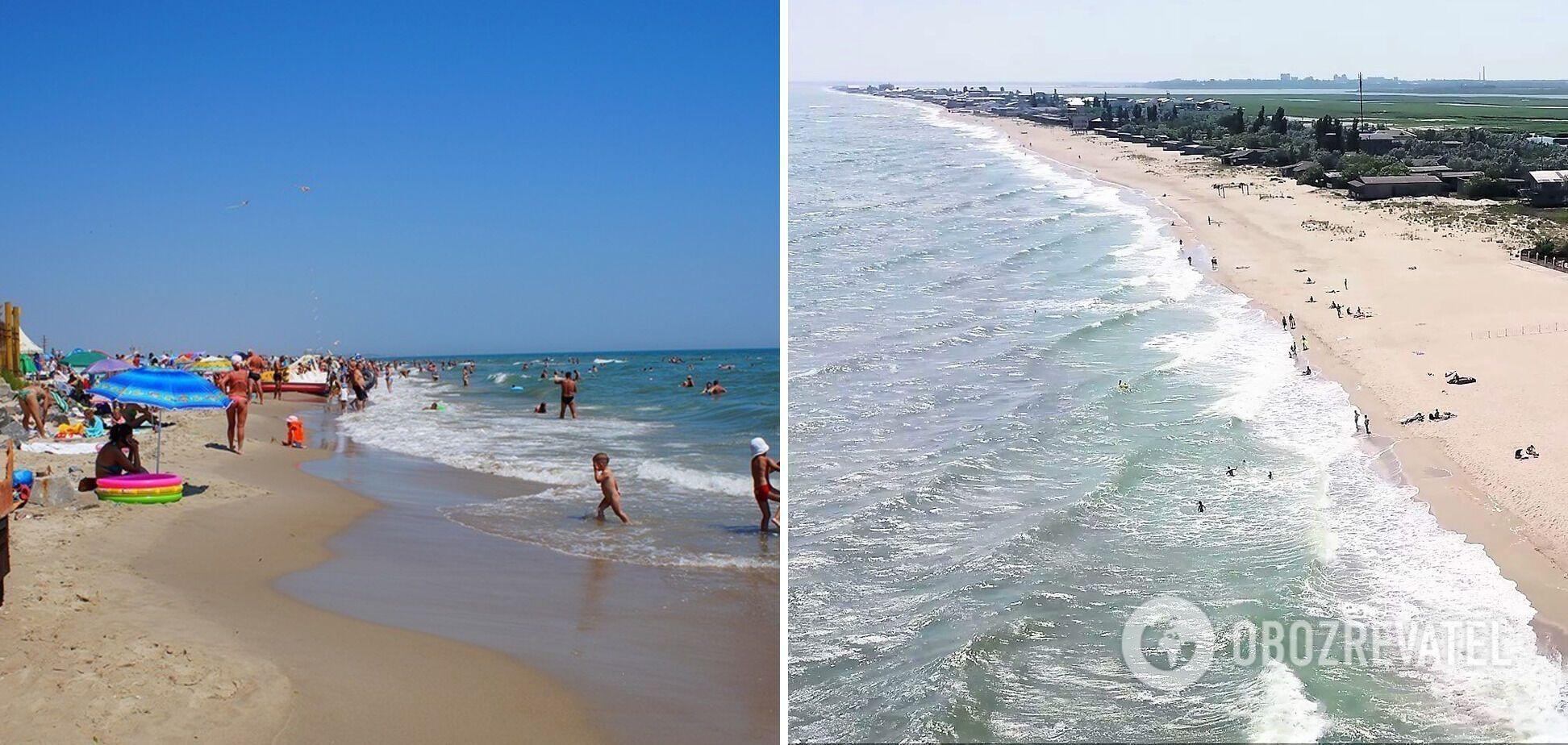 Солнечный пляж подходит для отдыха с детьми.