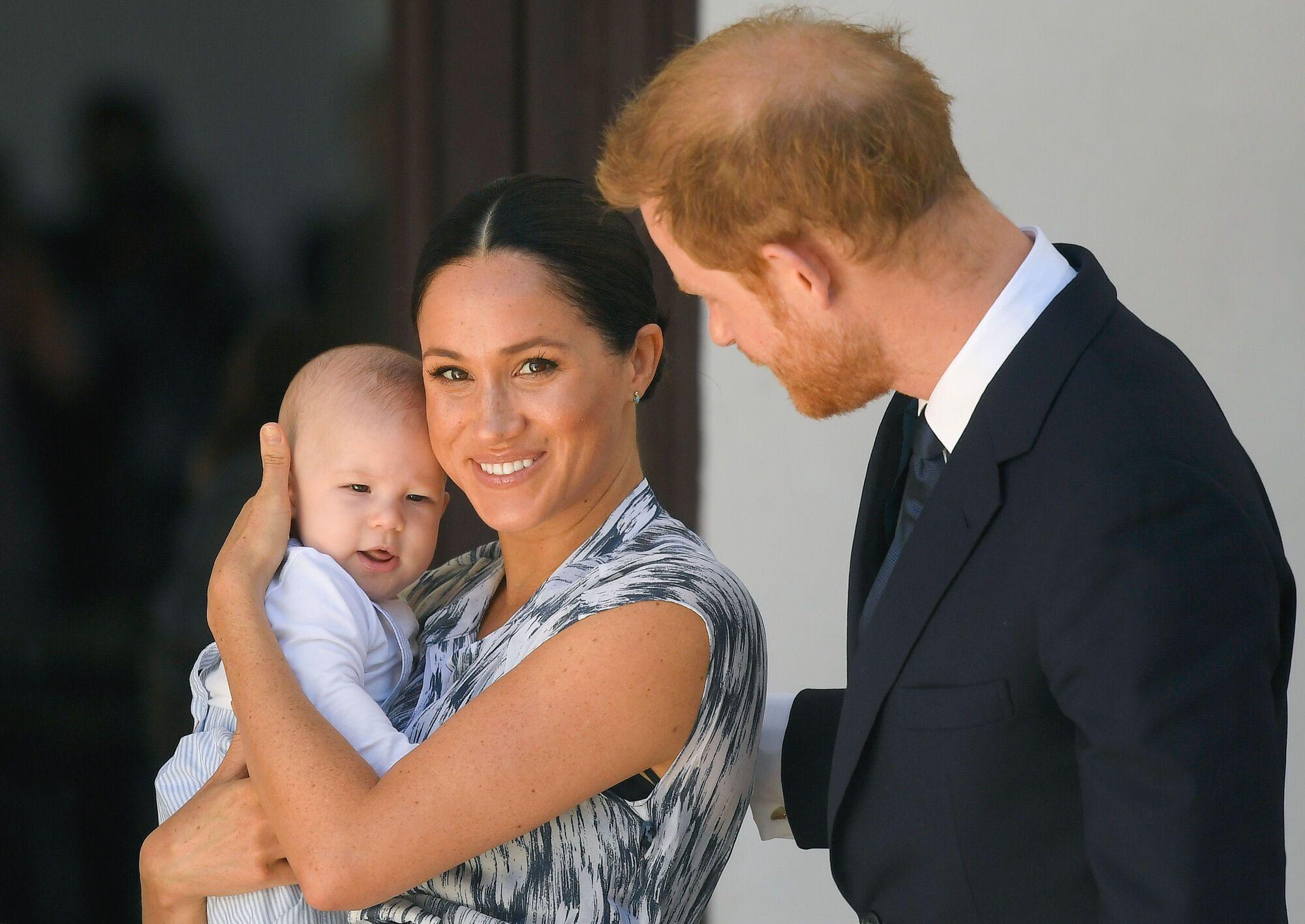 Меган Маркл і принц Гаррі із сином