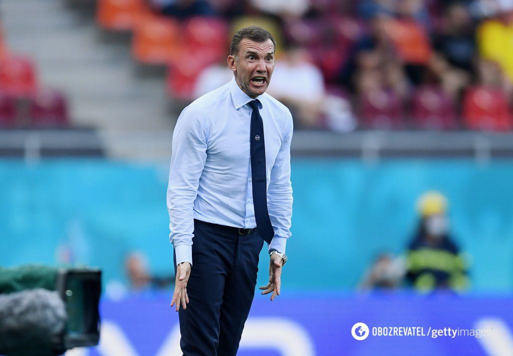 Андрей Шевченко все время матча.