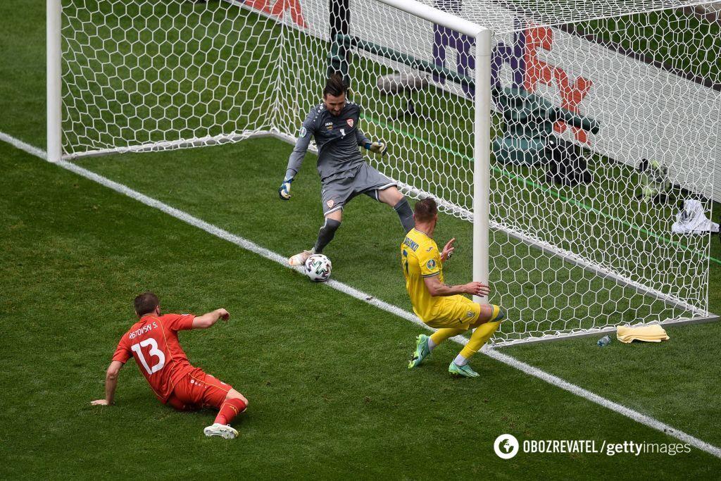 Ярмоленко відзначився голом у ворота македонців.