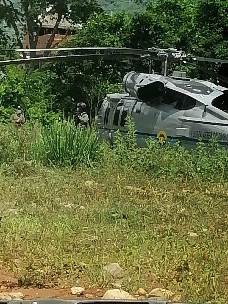 Вертолет, который обстреляли