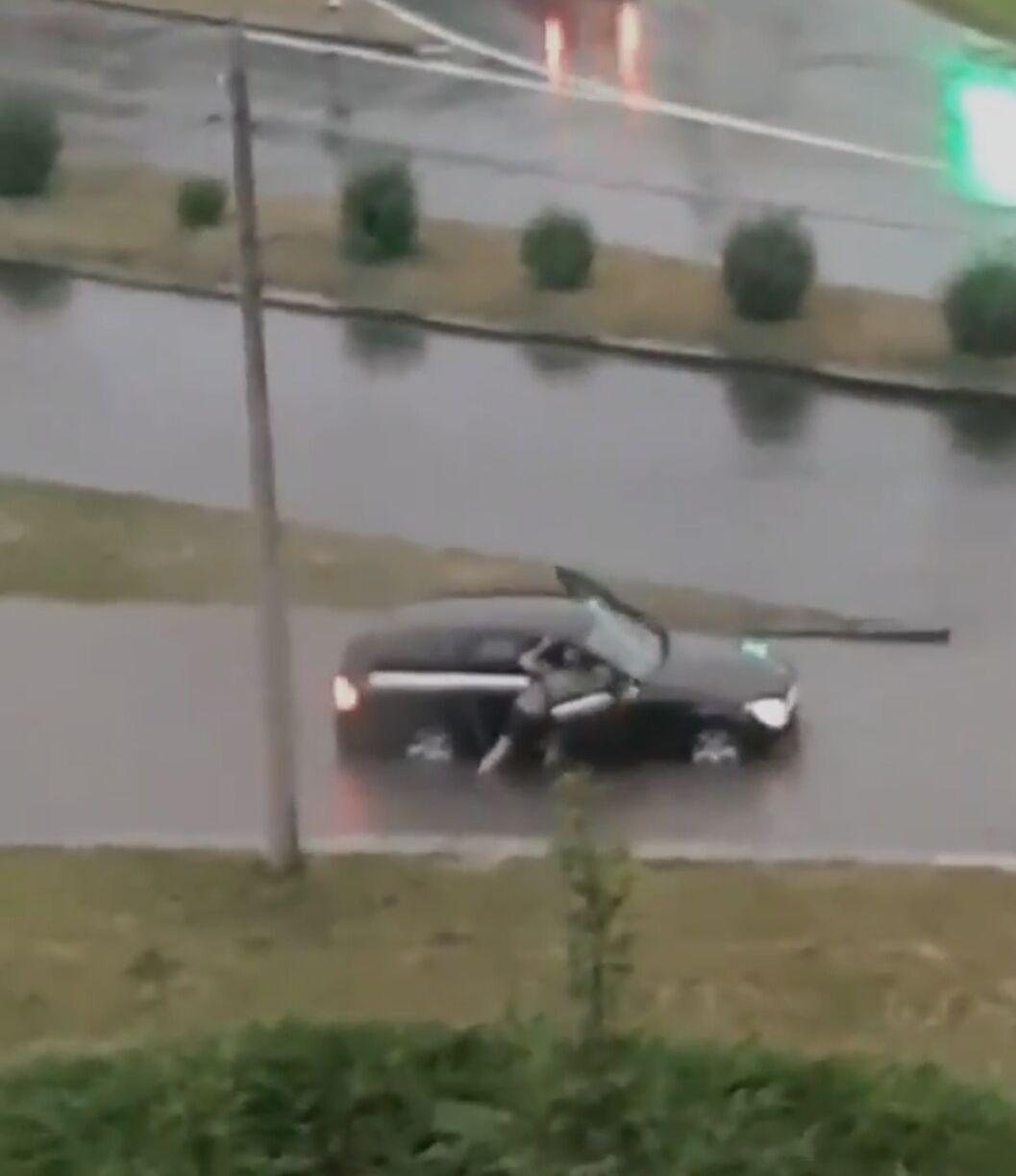 Последствия дождя в Ривне.