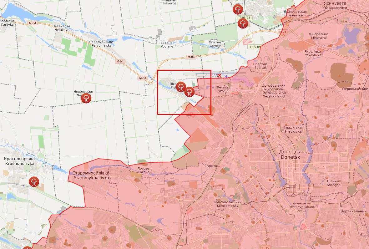 Боец ВСУ погиб в районе поселка Пески.