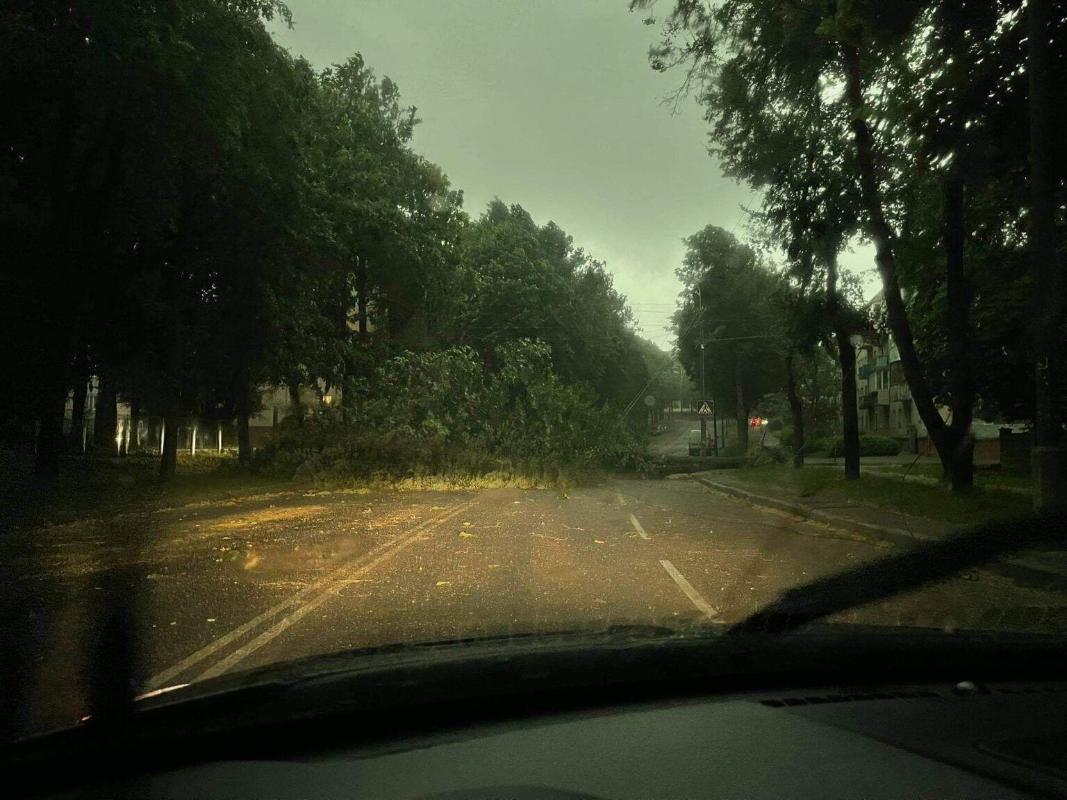Непогода в Ривне.