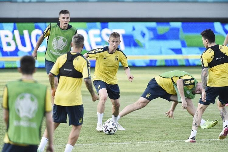 Тренировка сборной Украины.