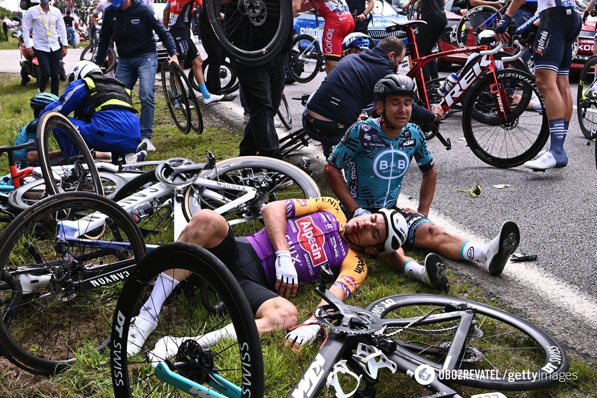 Пострадавшие велосипедисты