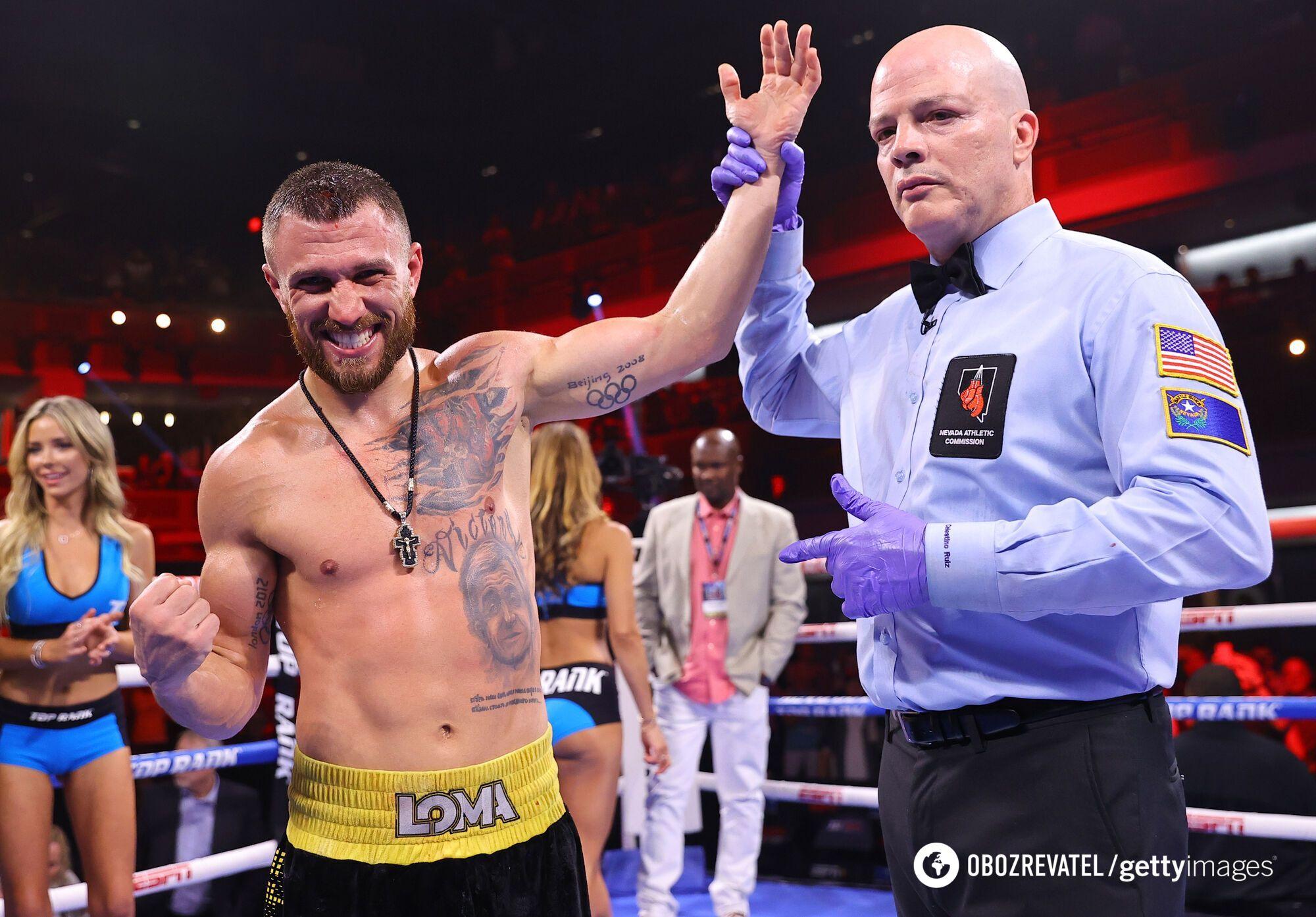 Василь Ломаченко переміг Масайоші Накатані.
