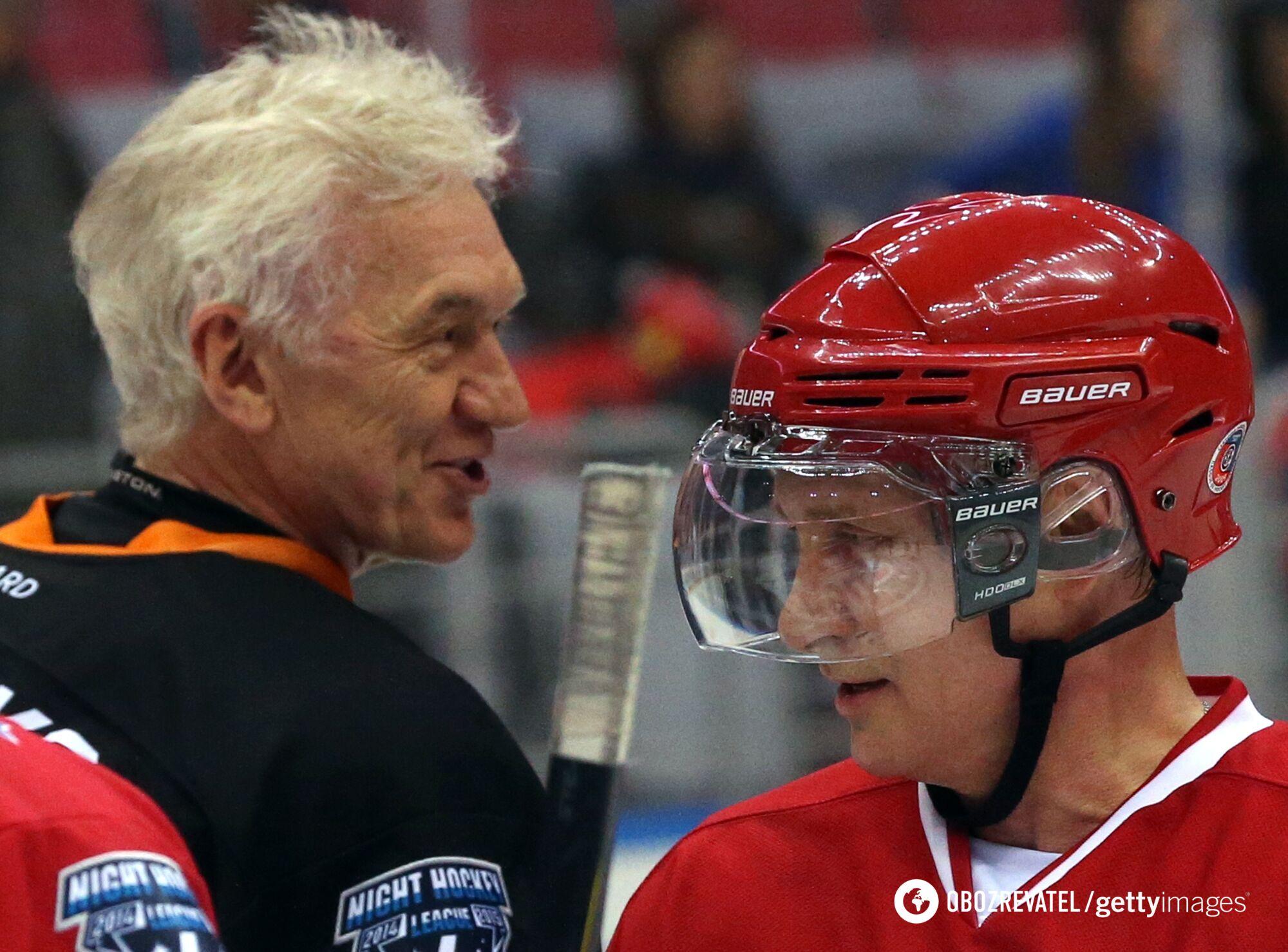 Тимченко и Путин играют в хоккей