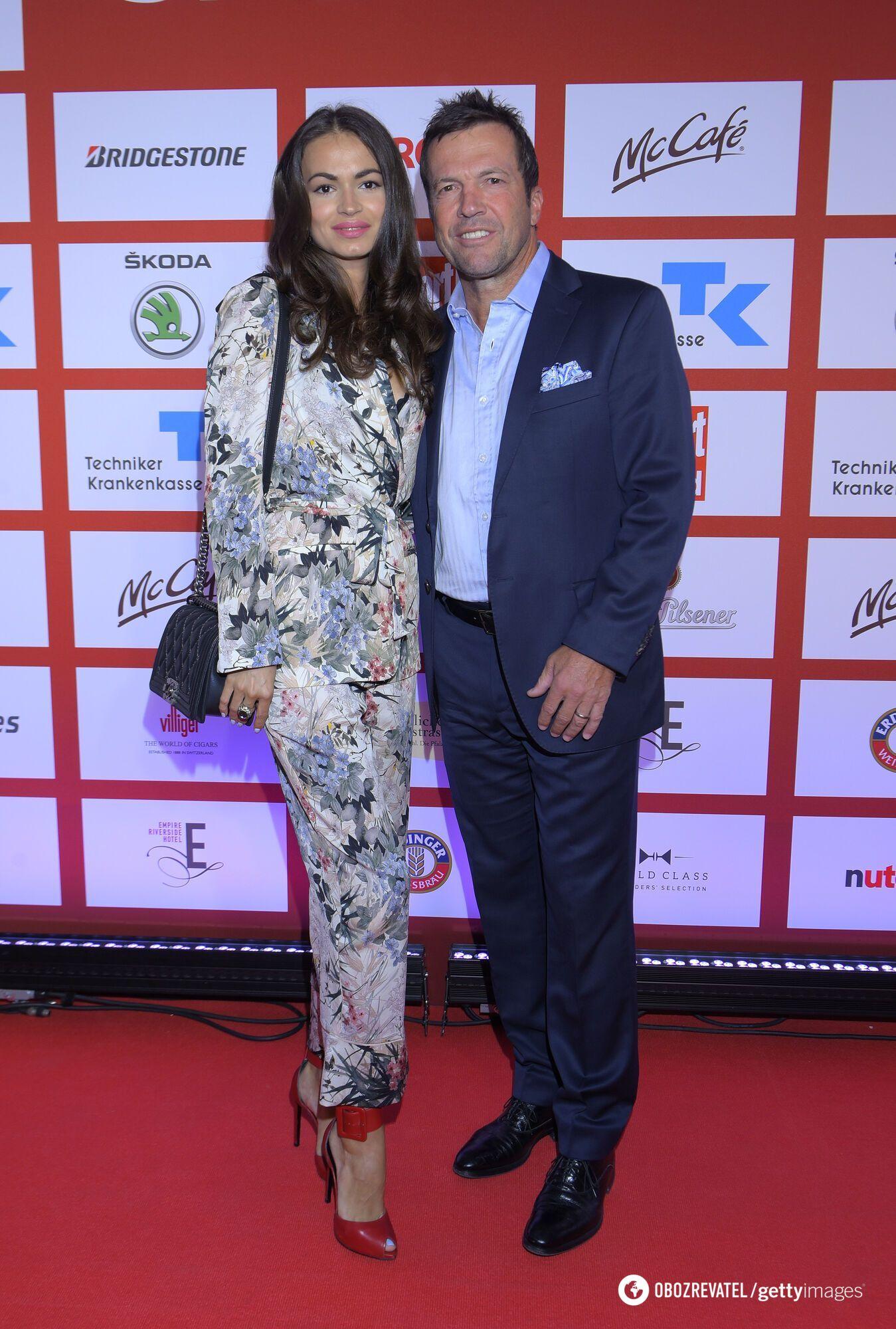 Лотар Матеус і російська модель Анастасія Климко.