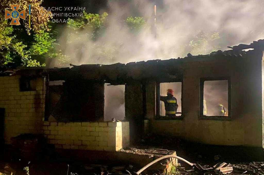 Пожежа в Чернігівській області