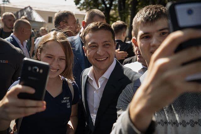 Зеленский и украинская молодежь.