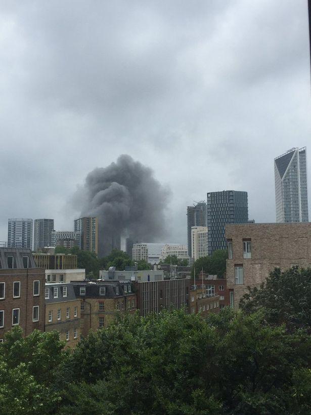 Густой дым над Лондоном